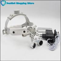 Headband LED light Medical Surgical Dental Headlight with (2.5X,3.5X optional) Surgical loupes