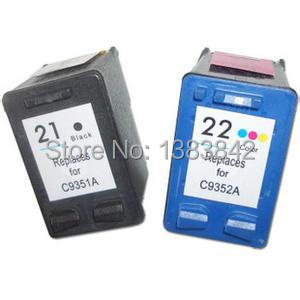 hisaint voor HP 21XL 22XL inktcartridge C9351AN C9352AN voor HP Deskjet 3915 3920 3930v D1530 D1320 D1311 D1455 printer