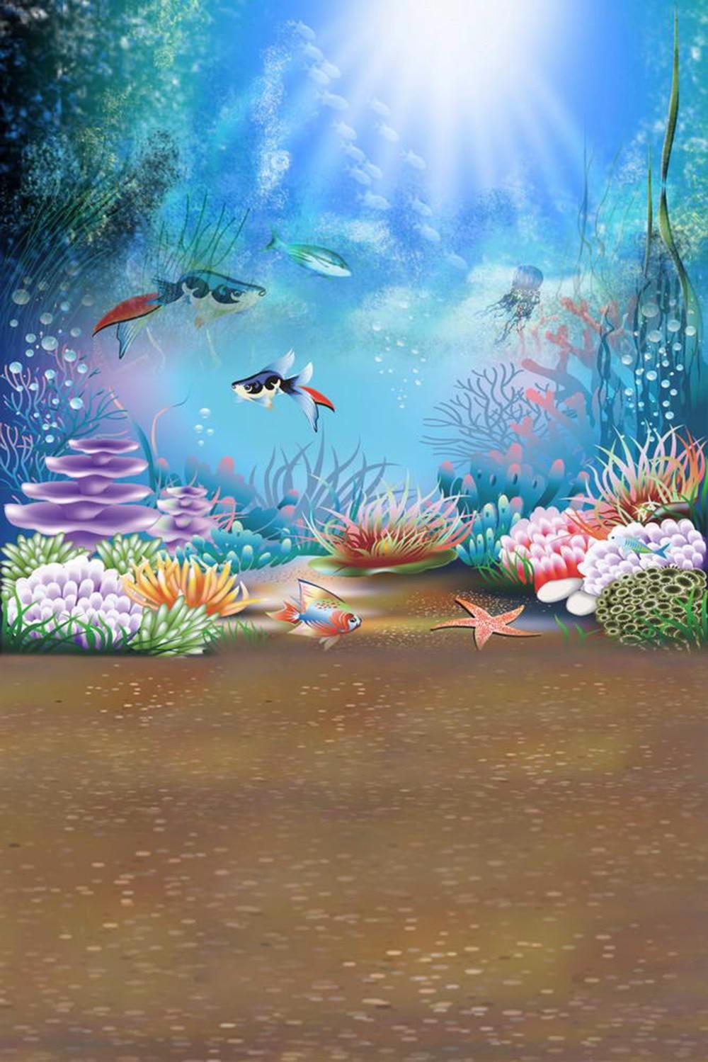 US $15 0 OFF Sinar Matahari Melalui Biru Laut Latar Belakang Untuk Fotografi Rumput Laut Ikan Di Bawah Laut Bayi Anak Anak Kartun Foto Latar
