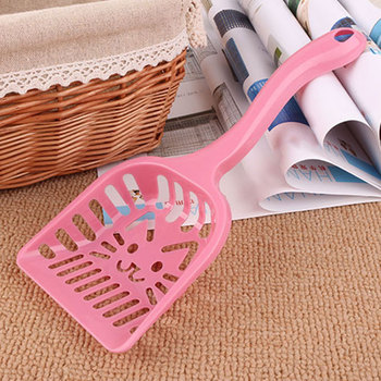 Newly Cat Litter Shovel Pet Cleaning Tool Plastic Scoop Cat Sand Toilet Cleaning