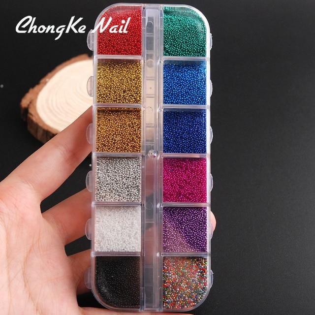 12 Colores/box pastel Brillos de uñas set 3D Manicura brillo cristal ...