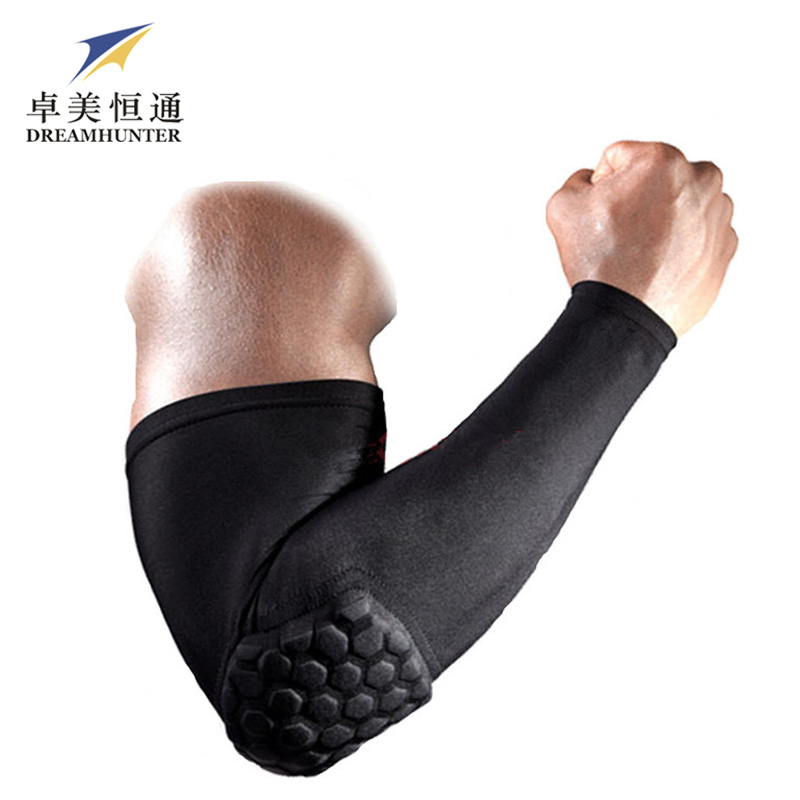 2PCS Gym Crashproof Arm Sleeves Shooting Support Elbow Protector Pads Cycling Flexible Compression Armguards