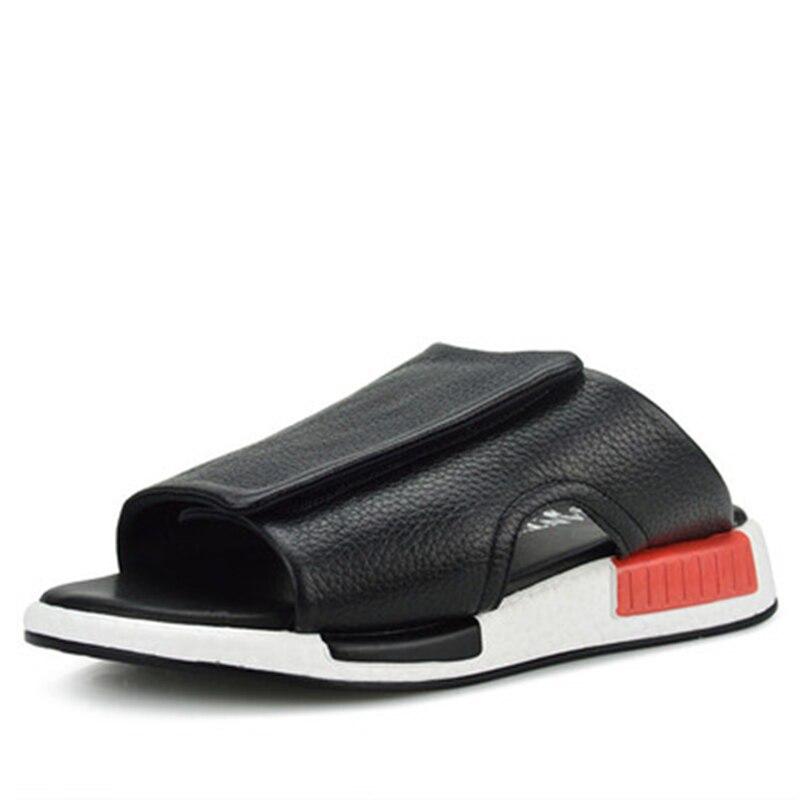 Летние Обувь в римском стиле модная обувь на плоской подошве в сдержанном стиле Роскошные Шлёпанцы для женщин Для мужчин с цветочным принто...