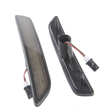 1 Pair High Power Turn Signal 27-SMD Clear lens Front LED Side Marker Light For Ford Mustang 2010-2014 Install Bumper Lamp
