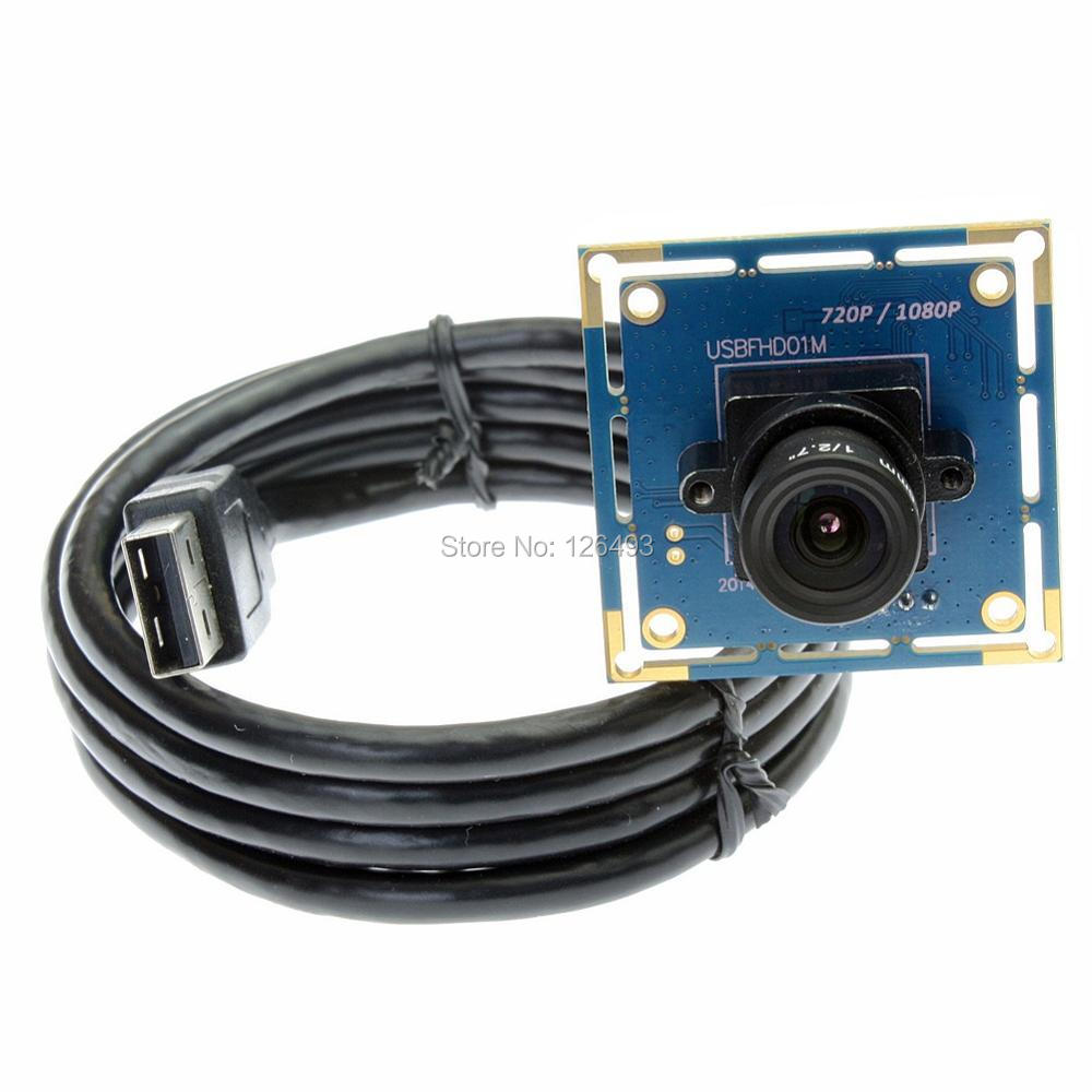 12mm lens Industrial high spped1080P Black White monochrome usb camera module with UVC