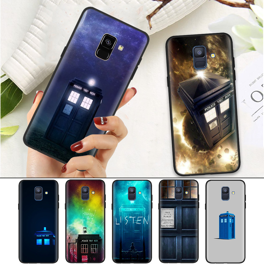 Half-wrapped Case Obliging Black Silicone Soft Case Cover For Samsung Galaxy A7 A70 A50 A40 A30 A20 A10 A8 A9 A6 2018 Plus 2018 Star A20e Tardis Box Doctor Selling Well All Over The World Cellphones & Telecommunications