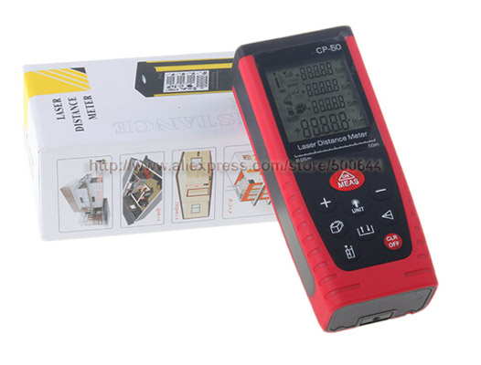 50M Handheld Digital Laser Distance Meter Range Finder Measure Diastimeter & 10PCS/Lot DHL/UPS/FEDEX/EMS Free Shipping dhl ems 1pc new in box keyence long distance laser sensor head lv h62