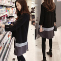 Winter European noble temperament cultivate one's morality long-sleeved sweater dress South Korea sweet comfort women cloth