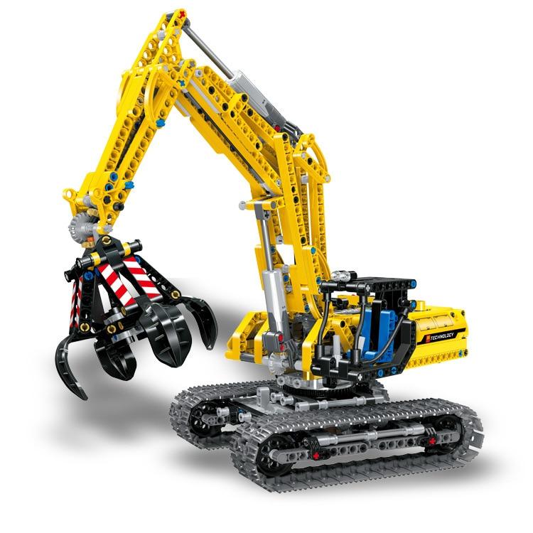 Technic Excavator LELE 2 IN 1 City Series Building Blocks Set Bricks Classic Model Kids Toys Gift Compatible Legoe цена и фото