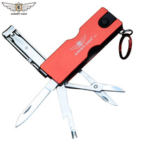 ALMIGHTY EAGLE Portable Knife Mini Folding Knives EDC Tool Coin Knifes Multi tools Survival Hand tools Key Chain Ring