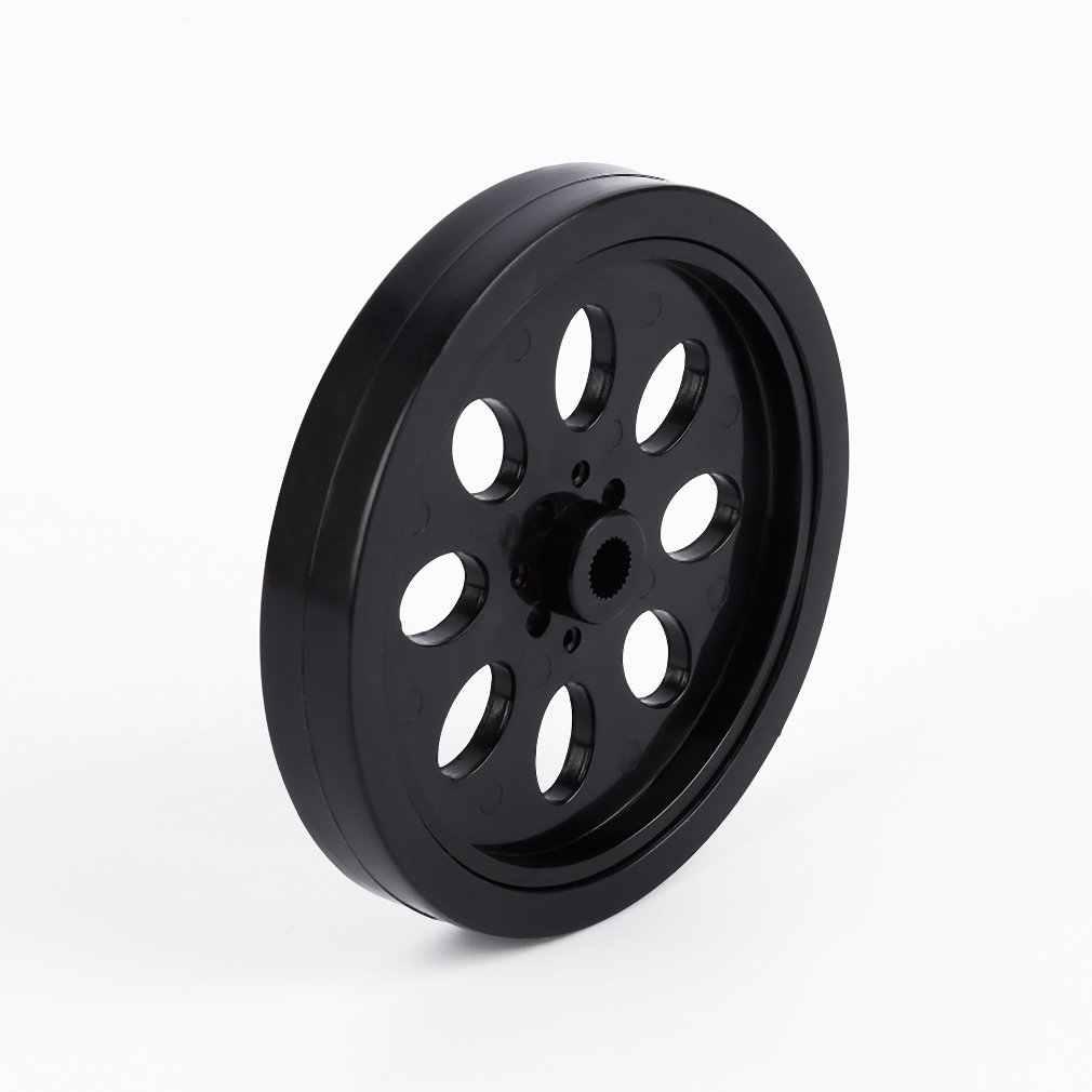 1 pc czarny Arduino z tworzywa sztucznego opona koło dla robot diy inteligentny samochód