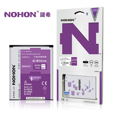 Original NOHON Battery BM42 For Xiaomi Redmi Hongmi Red Rice Note 1 3200mAh High Capacity Replacement Batteries