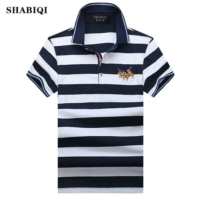 405595e99c Heißer Verkauf 2019 Sommer Marke Männer Polo Shirt Lässig Baumwolle  Gestreiften Polo männer Homme Camisa Kurzen Ärmeln Polo Plus größe S-8XL