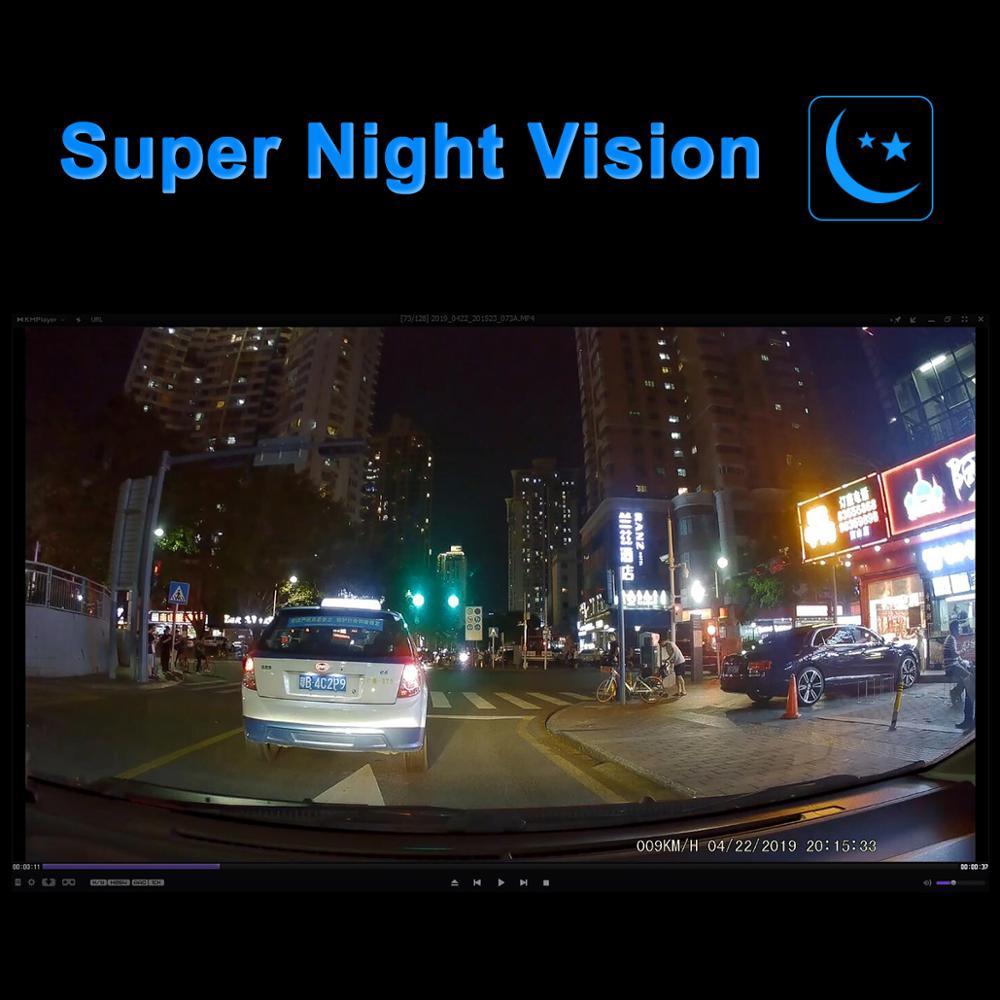 Car DVR 4K 2160P GPS WiFi ADAS Dash Cam Dual Lens 1080P+1080P Vehicle Car Camera Driving Recorder - 3
