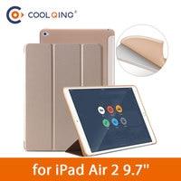 protective pu leather Tri-folded TPU Tablets Case For iPad Air 2 9.7 Soft Protective Covers PU Leather Tablet Smart Case For iPad Air Case iPad Air9.7 (1)