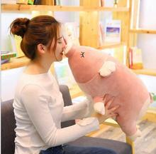 WYZHY Peach Pig Doll Pillow Plush Toy Sofa Decoration Send Friends and Children Gifts 80CM