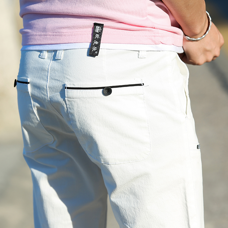 Casual Men Cotton Slim Fit Chinos Pants 4