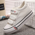 2016 new classic women canvas shoes fashion solid hook&loop height increasing casual shoes low top thick bottom platform shoes