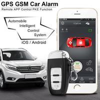 PKE смартфон старт авто автомобиль умный будильник дистанционный запуск старт остановить двигатель системы с центральной блокировкой и виб