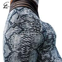 CHRLEISURE Women Leopard Leggings Push Up Workout Legging Femme Fitness Leggings Elastic Sportswear Leggins