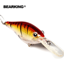 Bearking 5pcs/.lot hot good fishing lures minnow,quality professional shad.  8cm/14g,depth2-4m crankbait popper shad