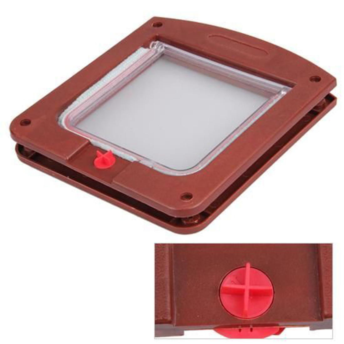 Durable Plastic 4 Way Cat Dog Small Waterproof Pet Locking Door Flap