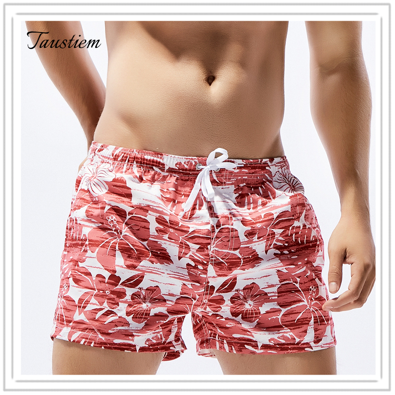 Hongel Fashion Underwear Taustiem Brand Men Swimwear Swimsuits  Board Beach Shorts Boxer Trunks  Quick Drying Pockets Short Pants Sea Casual Short Bottom