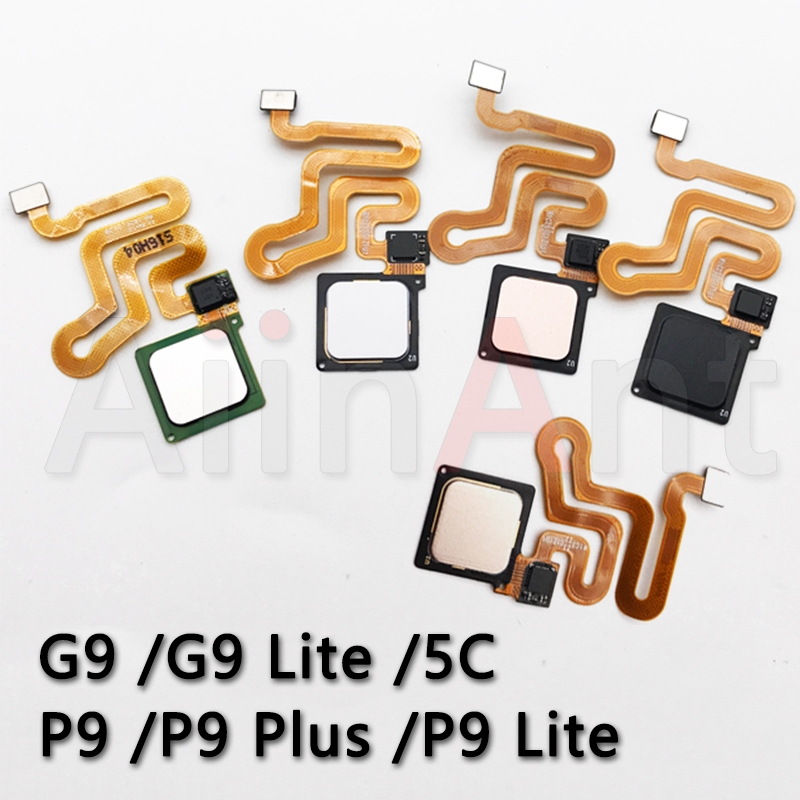 AiinAnt Original Home Back Button Key Touch ID Fingerprint Sensor Flex Cable For Huawei P9 Plus Lite G9 Lite 5C Home Flex