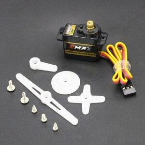 Image 4 - 4 pièces/lot EMAX ES08MA II Mini engrenage métallique Servo analogique 12g/ 2.0kg/ 0.12 Sec Mg90S