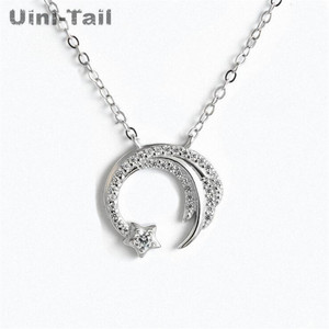 Uini-Tail new original 925 sterling silver slip falling meteor micro-inlaid necklace Meteor Garden fashion trend jewelry GN698(China)