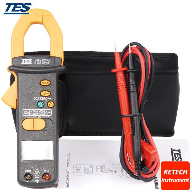 TES3092 Clamp Meter,Digital AC/DC Clamp Meter, AC/DC True RMS Clamp Meter ab 3092