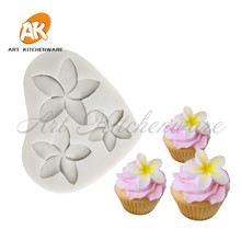 Silicone Mold Chocolate-Clay Frangipani Sugarcraft Decorating-Tool Fondant Cake 3pcs