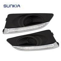 SUNKIA 2Pcs Set Car Styling Waterproof LED Daytime Running Light DRL For Chevrolet Aveo 2010 2013