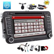 2 din Car Stereo Radio Unit DVD GPS Navigation Bluetooth Touch Screen for VW Volkswagen Jetta Golf Passat+Free Canbus Camera