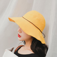 New Spring Summer Big Brim Bucket Hat For Women Fisherman UV Protection Sun Casual Outdoor Girl Beach Cap High Quality