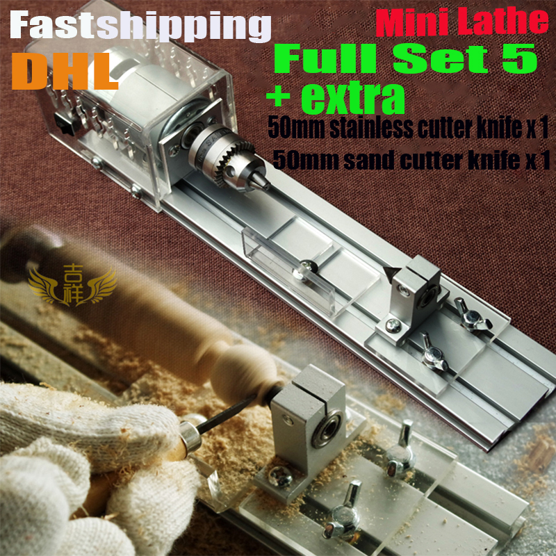 DIY Wood Lathe Mini Lathe Machine Polisher Table Saw for polishing Cutting,metal mini lathe/didactical DIY lathe ship via DHL adjustable double bearing live revolving centre diy for mini lathe machine