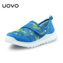 UOVO ฤดูใบไม้ผลิฤดูร้อนเด็กรองเท้าสบายๆรองเท้าสำหรับชายและหญิงน้ำหนักเบากีฬารองเท้าเด็กรองเท้าผ้าใบขนาด 28 # 37 #