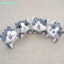Super Cute Middle Size Sitting 10cm Plush Toys Dolls Chi Cat Keychain Stuffed Animals Soft Toys Kawaii Mini Kids Gifts