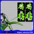 KDX KLX KXF KX  MOTORCYCLE  3M GRAPHICS METAL  BACKGROUND UPSIDE DOWN FORKS DECALS SHOCK ABSORBER STICKERS SETS 02