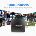 Android 6.0 TV Box Amlogic S905X 1G 2G WiFi 4 K 1080 P Set Top caja Smart Tv con HD 1700 1 Año Gratis Árabe IPTV Europa Italia