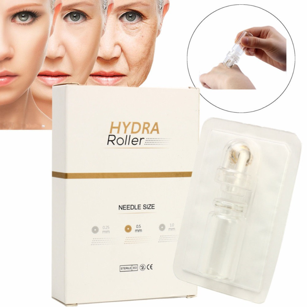 Hydra Roller 64 Pin Micro Needle Titanium Tips Derma Needles Skin Care Anti Aging Whiten Bottle Roller Serum Injection Reusable