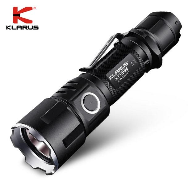 лучшая цена 2016 KLARUS XT11GT Newest CREE XHP35 HD E4 LED 2000 Lumen Tactical Flashlight USB charging by 3100 mAh 18650 Li-ion batteries