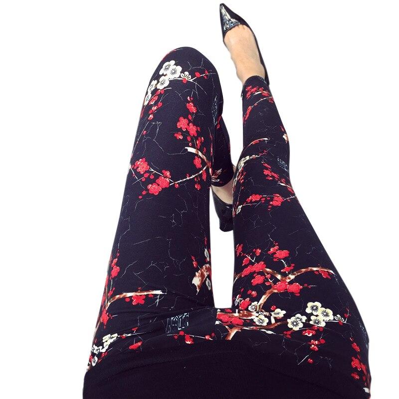 Casual Polyester Women's Leggings High Elastic Legins Fitness Nine Pants Plaid Fashion Clothings aptitud Legging For Women
