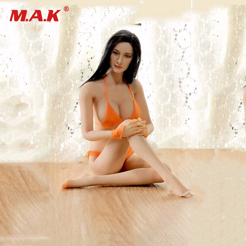 1/6 Sexy Large Bust Female Action Figure Super Flexible Female Seamless Body with Stainless Steel Skeleton In Pale Collections phicen 1 6 action figure doll super flexible female seamless body movable with stainless steel skeleton in big bust pllb2014 s07