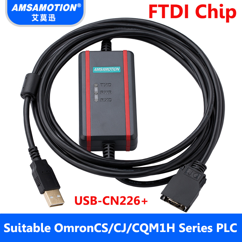 Suitable Omron PLC Programming Cable CS/CJ/CQM1H Series Download Cable USB-CN226+ usb ge ge90 usb programming cable series ge90 series plc programming cable