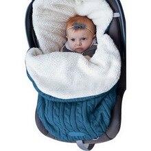 CYSINCOS, плотный детский конверт для пеленания, вязаный конверт, спальный мешок для новорожденных, детское теплое Пеленальное Одеяло, детская коляска, муфта для сна