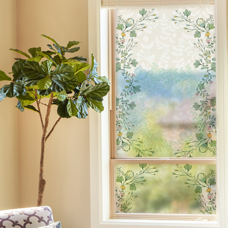 Free Custom Static Cling Window Film Frosted Opaque