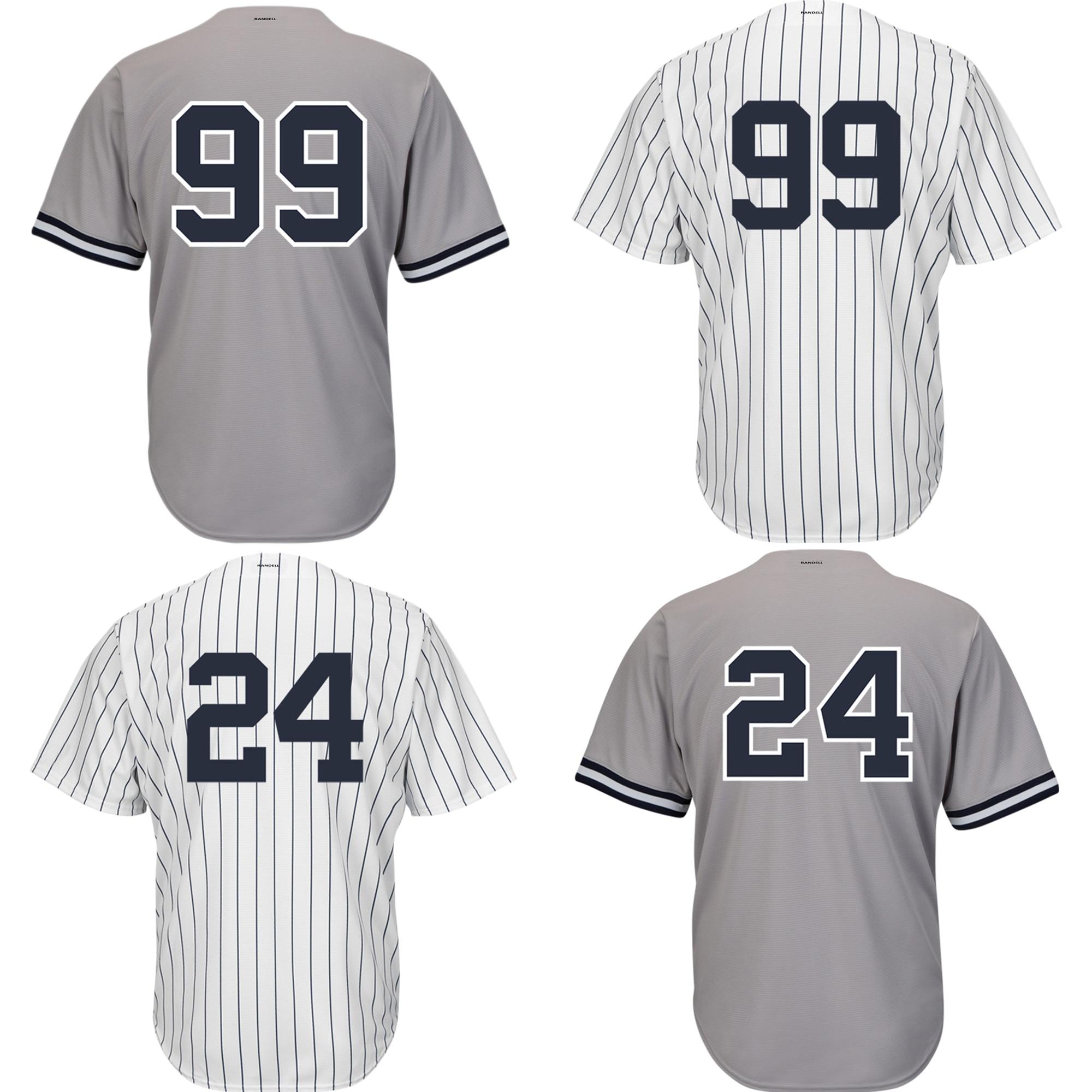 99 Judge 24 Sanchez Jersey Men's Baseball Jerseys New York White Grey