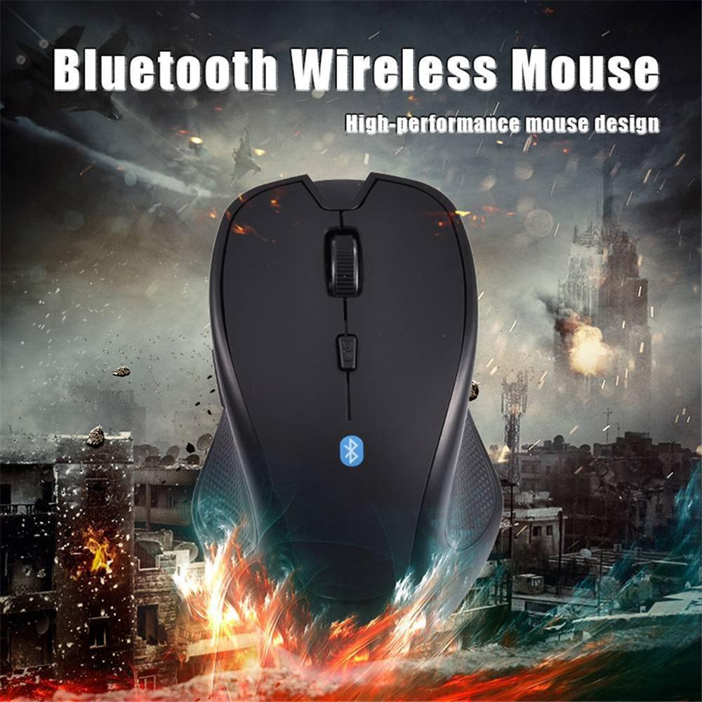 Wireless Mouse Ergonomic Design 1600DPI Bluetooth V3.0 For Android Phone Tablet PC Desktop Laptop Black