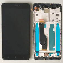 Хорошее Черный Сенсорный экран планшета ЖК-дисплей Дисплей сборки + Рамки для Xiaomi Redmi Note 4x